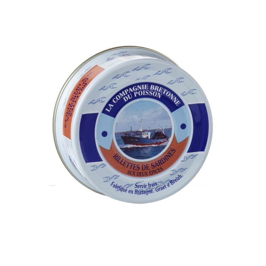 Rillettes de sardine aux 2 épices, 78 gr