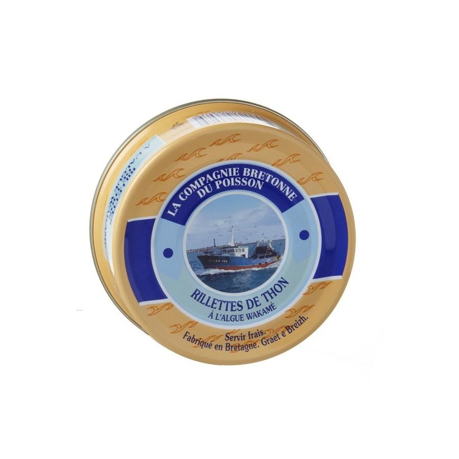 Rillettes de thon Nature 78 Rillettes de thon à l'algue wakamé, 78 gr