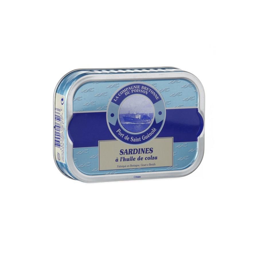 Sardines entières à l'huile de colza bio en boite , Poissonnerie