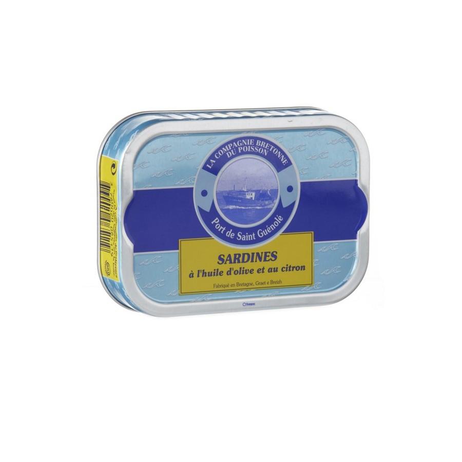 Sardines à l'huile d'olive et au citron bio disponible en poissonnerie