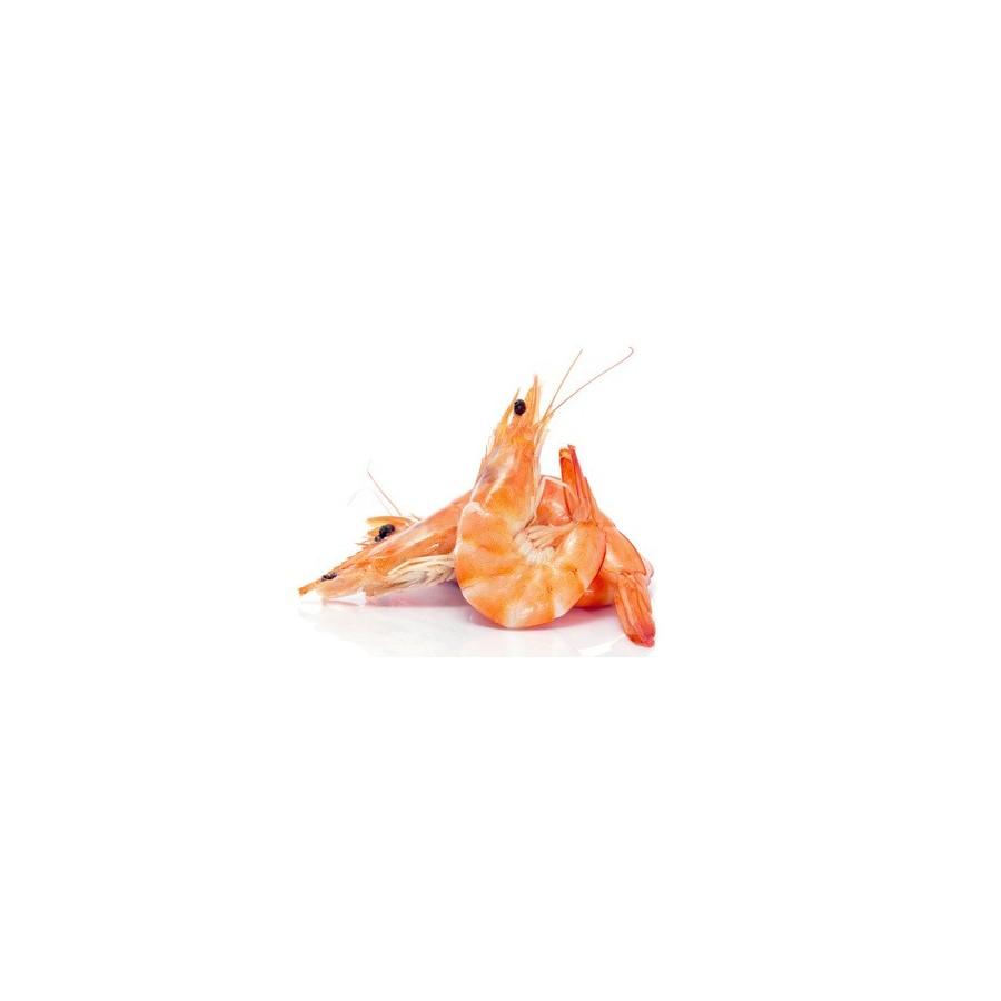 Crevette rose cuite 40/60 lot 2 kg Madagascar ( Pandalus spp)