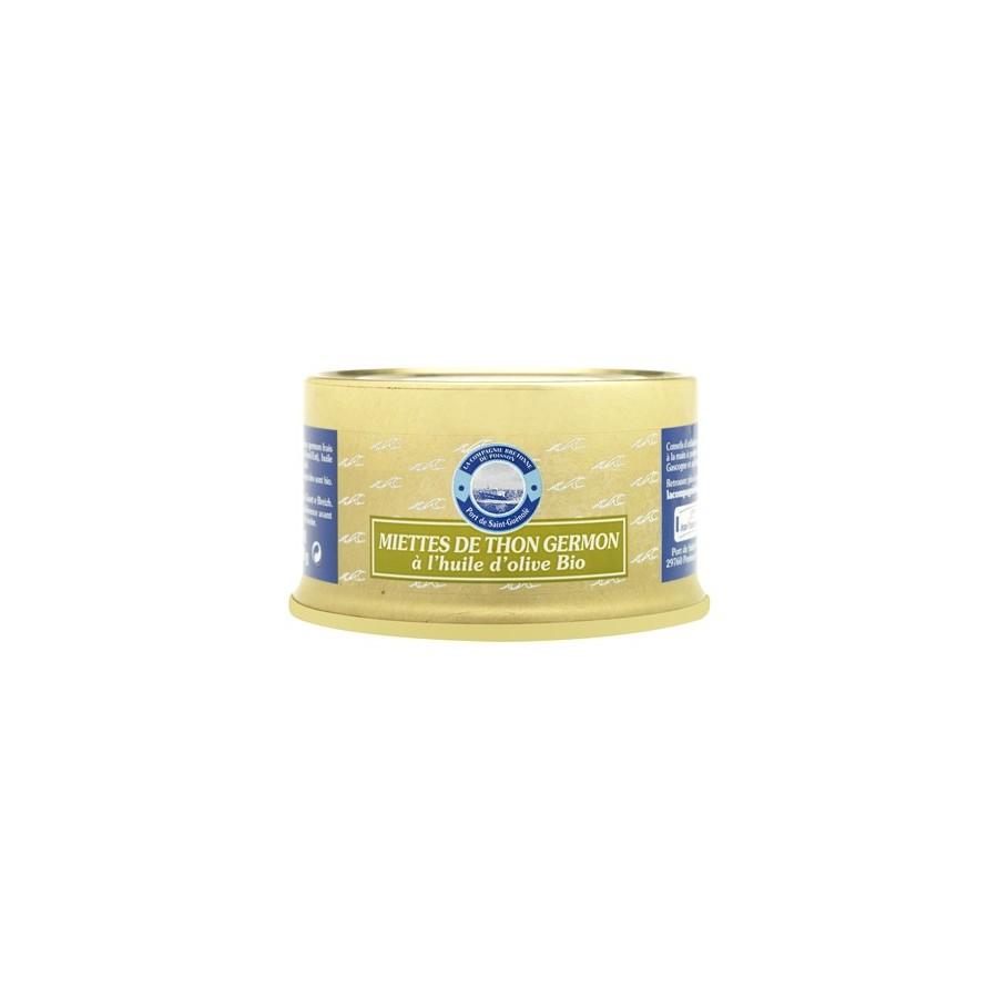 Miettes de thon Germon à l'huile d'olive BIO 135 gr