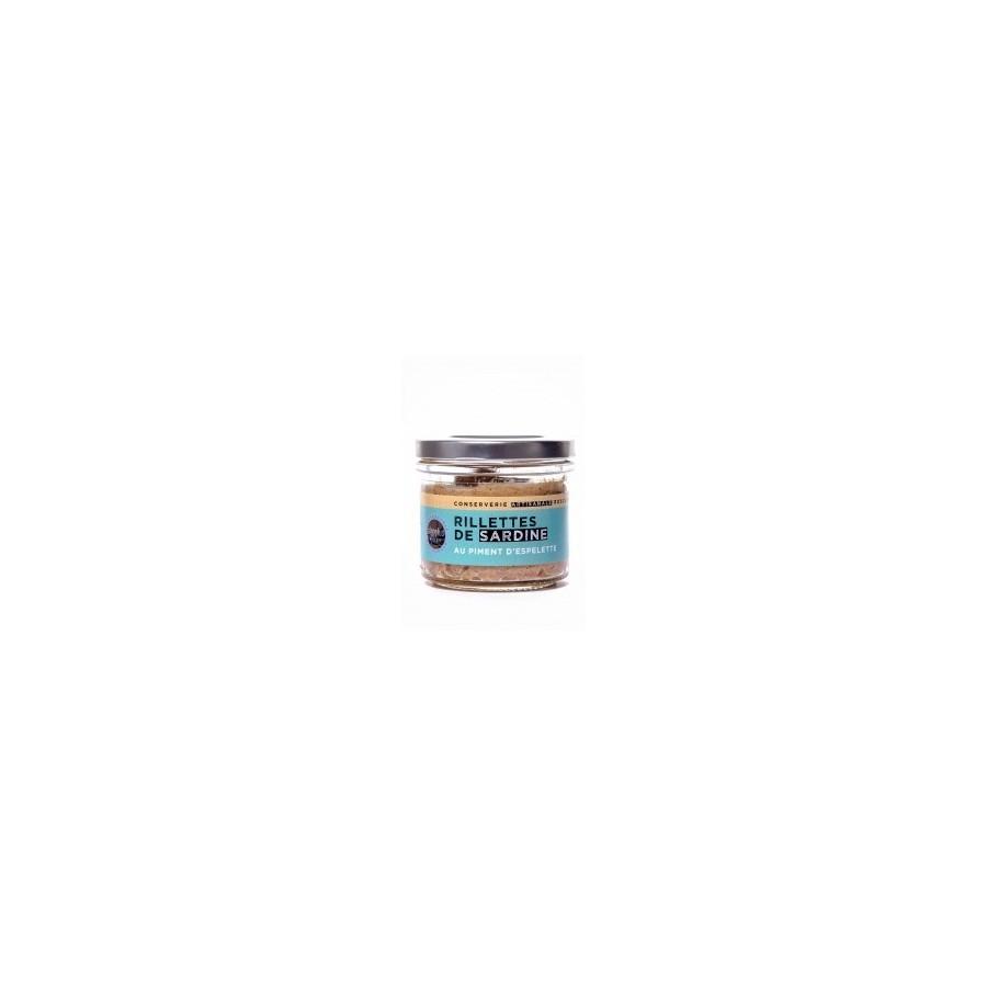 Rillettes de Sardines au piment d'Espelette 90 gr