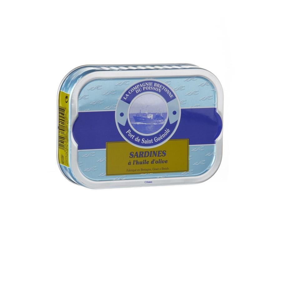 Sardines entières à l'huile d'olive Bio, poissonnerie bio