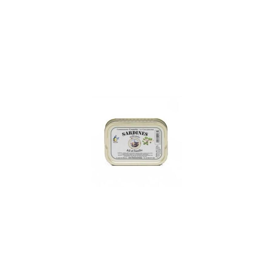 Sardines à l' Ail et Basilic Millésimées 115 gr
