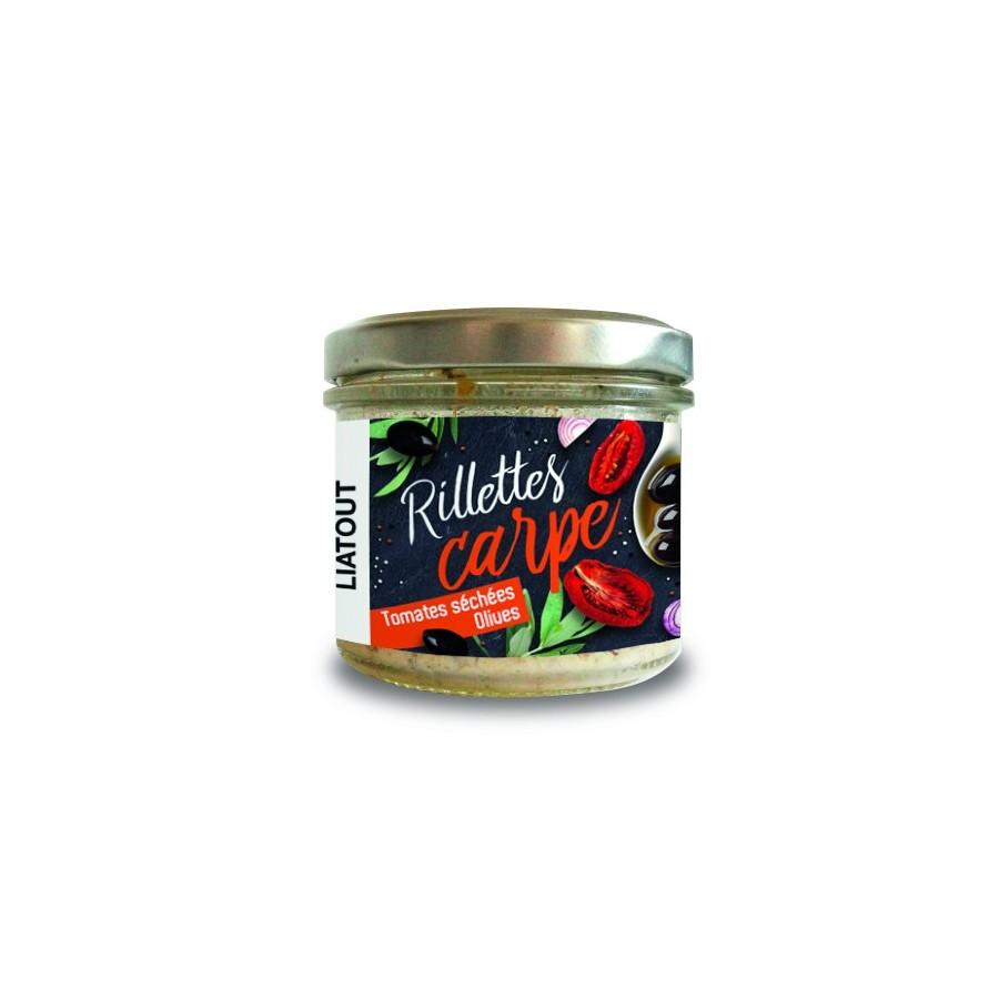 Rillettes Carpe Tomates Séchées Olives Maison Liatout 90 gr