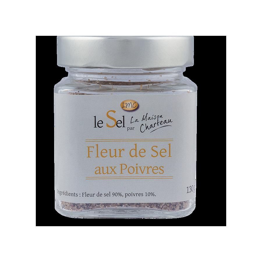 Fleur de sel aux Poivres Maison Charteau Guérande,130gr