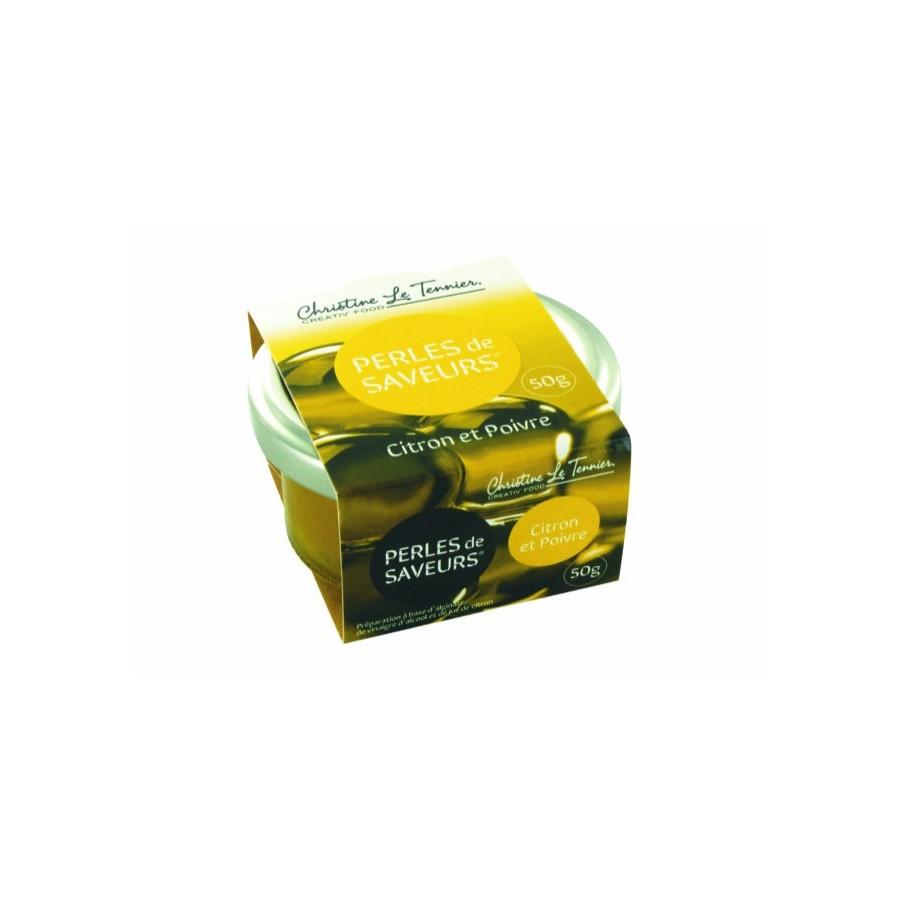 Perles de Saveurs, Citron et Poivre 50gr